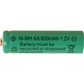 Genopladeligt batteri AA 1,2V 600 mAh Ni-MH 2-pak , hemmetshjarta.dk