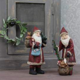 Julemand med julegaver Mix Poly 9x20cm 2-pack , hemmetshjarta.dk