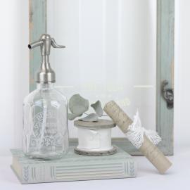 Sifonflaske / sæbepumpe med tryk 16,5 cm , hemmetshjarta.dk