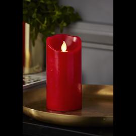 Batteridrevet Bloklys LED M-Twinkle Rød 7,5x15cm , hemmetshjarta.dk