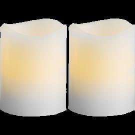 Batteridrevet Bloklys LED May Gul 5x6cm 2-pack , hemmetshjarta.dk