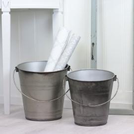 Spande 2-pack - cloudy/grå , hemmetshjarta.dk