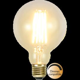 LED-Pære E27 Soft Glow G95 Dim , hemmetshjarta.dk