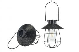 Lampe / solcelle LED hængende sort 17x22cm , hemmetshjarta.dk