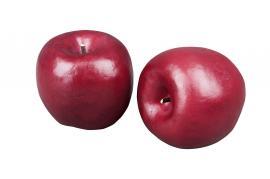 Kunstigt æble Mørkerød 70mm 3-pack , hemmetshjarta.dk