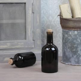 Glasflaske Mørk brun 400ml 8x18cm , hemmetshjarta.dk