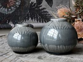 Alsace Vase m. stribet mønster H14/Ø15,5 cm opal , hemmetshjarta.dk