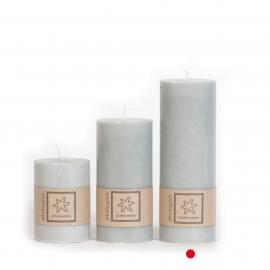 Bloklys Økologisk Light Grey 100% stearin 7x20 , hemmetshjarta.dk