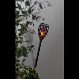 Solcellefakkel Flamme , hemmetshjarta.dk