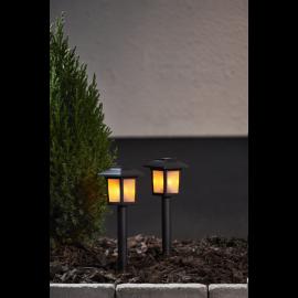 Solcellelampe stolpe Flame Mini 2-pack , hemmetshjarta.dk