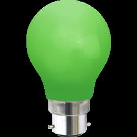 LED-Pære B22 Outdoor Lighting A55 Grøn , hemmetshjarta.dk