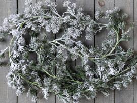 Uge 42 Fleur Cedertræsranke m. sne L180 cm grøn , hemmetshjarta.dk