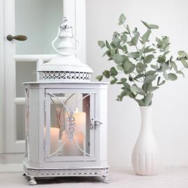 Lanterne Milla 45 cm - antik hvid , hemmetshjarta.dk