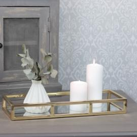 Spejlbord Luksus 40 cm - guld , hemmetshjarta.dk