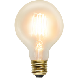 LED-Pære E27 Soft Glow G80 , hemmetshjarta.dk