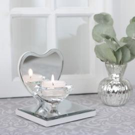 Lanterne Crystal på spejlet hjerte , hemmetshjarta.dk