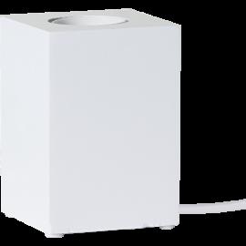 Lampeholder E27 Cube Hvid 7x10 , hemmetshjarta.dk