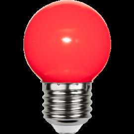 LED-Pære E27 Outdoor Lighting G45 Rød , hemmetshjarta.dk