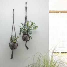 Ampel reb til blomsterkrukke 95 cm grå jute , hemmetshjarta.dk