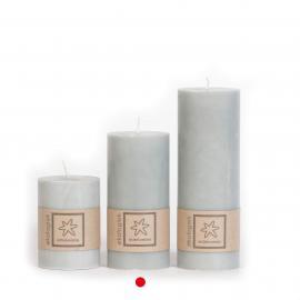 Bloklys Økologisk Light Grey 100% stearin 7x15 , hemmetshjarta.dk