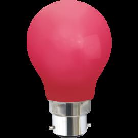 LED-Pære B22 Outdoor Lighting A55 Rød , hemmetshjarta.dk