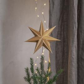 Uge 46 Top Stjerne Isa 21x33 Guld , hemmetshjarta.dk