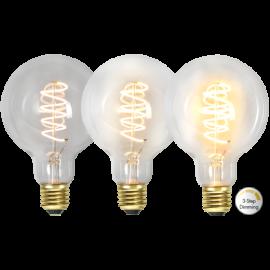 LED-Pære E27 Decoled Spiral Clear G95 Dim 3-step , hemmetshjarta.dk