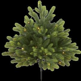 Juletræ med LED Busk Batteridriven Udendørs Varm Hvid 40 Lys 80x75cm , hemmetshjarta.dk