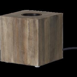 Lampeholder E27 Cube Brun 9x9 , hemmetshjarta.dk