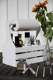 Trææske til køkkenpapir 18x45x30cm , hemmetshjarta.dk