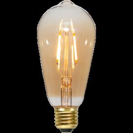 LED-Pære E27 Plain Amber ST64 , hemmetshjarta.dk