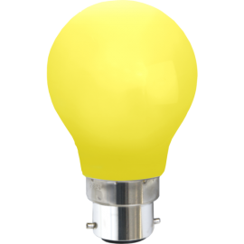 LED-Pære B22 Outdoor Lighting A55 Gul , hemmetshjarta.dk