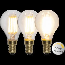 LED-Pære E14 Soft Glow P45 Dim 3-step , hemmetshjarta.dk