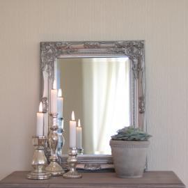 Spejl Antik 53x42 cm - antik sølv , hemmetshjarta.dk