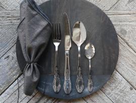 Bestik 16 deler - sølv , hemmetshjarta.dk