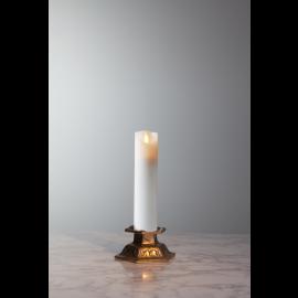 Batteridrevet Bloklys LED M-Twinkle Hvid 5x20cm , hemmetshjarta.dk