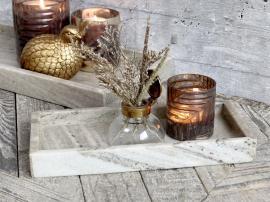 Uge 40 Morlaix Bakke af marmor H3,5/L30/B14 cm latte , hemmetshjarta.dk