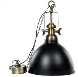 Lampe / Baron sort messing , hemmetshjarta.dk