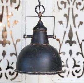 Lampe industri H26 / Ø24 cm antik sort , hemmetshjarta.dk