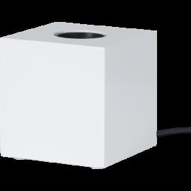 Lampeholder E27 Cube Hvid 9x9 , hemmetshjarta.dk