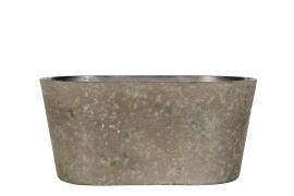 Hårdplast Mud Krukke/Ovali 24x10x11cm , hemmetshjarta.dk