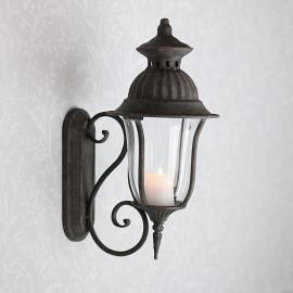 Lanterne/Væg 35 cm - antikgrå , hemmetshjarta.dk