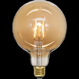 LED-Pære E27 Plain Amber G125 , hemmetshjarta.dk