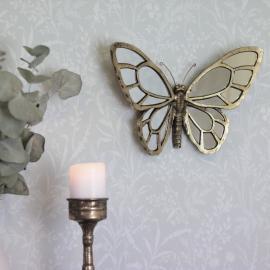 Spejl Sommerful 34 cm - Antik guld , hemmetshjarta.dk