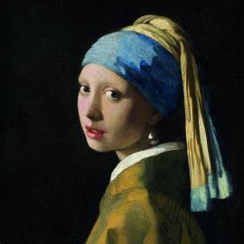 Serviett Frokost 33x33 Girl With The Pearl Earring , hemmetshjarta.dk