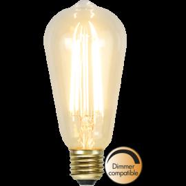 LED-Pære E27 Soft Glow ST64 Dim , hemmetshjarta.dk