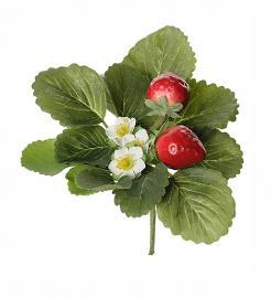 Kunstig Jordbær 20 cm , hemmetshjarta.dk