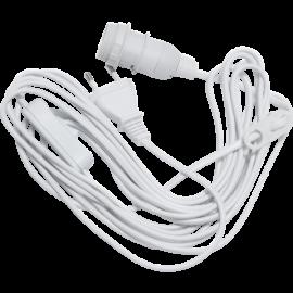 Lamphållar E14 Basic Hvid 5m , hemmetshjarta.dk