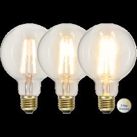 LED-Pære E27 Soft Glow G95 Dim 3-step , hemmetshjarta.dk