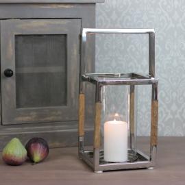 Lanterne Luksus metal / træ 20,5 cm , hemmetshjarta.dk
